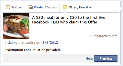 mealoffer 5 Creative Uses of Facebook Offers for Businesses