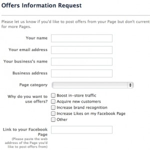 Request Facebook Offers