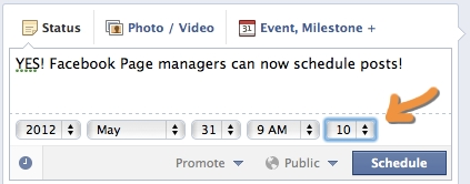 Facebook Page Managers Can Now Schedule Posts