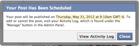 Facebook Schedule Posts