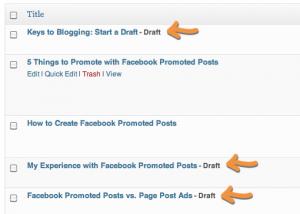 Pending Blog Post Drafts