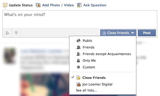 What Does Friends Except Acquaintances Mean On Facebook Photos