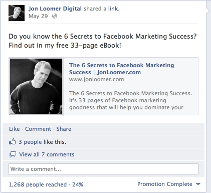 Facebook Promoted Post
