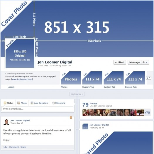 Facebook Timeline Dimensions: Another Change