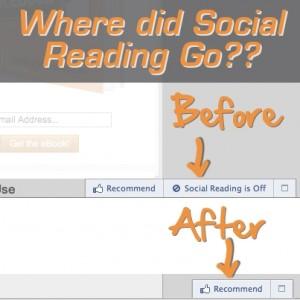 Facebook Social Reading Gone