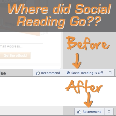 Facebook Social Reading Gone
