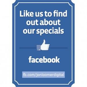 Like Us On Facebook Sign