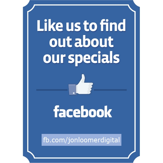 Get Customizable Facebook Signs for Your Business