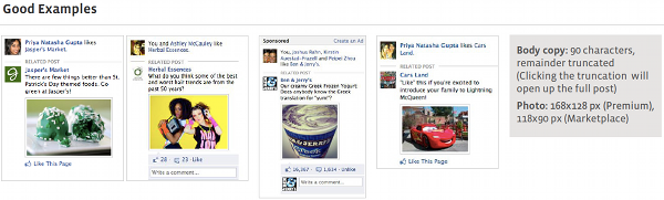 Photo Facebook Page Post Ads Examples