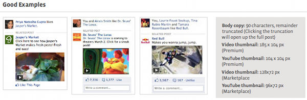 Video Facebook Page Post Ads Examples