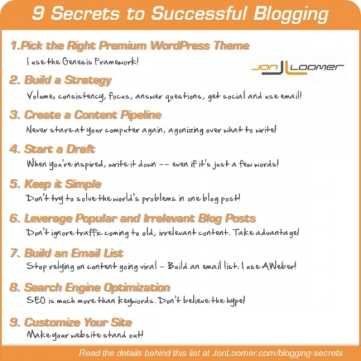 9 Secrets to Successful Blogging [Infographic]