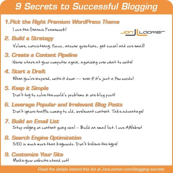 9 Secrets to Successful Blogging