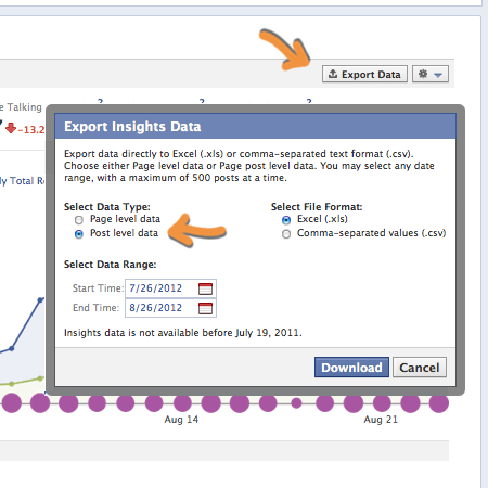 Export Facebook Insights