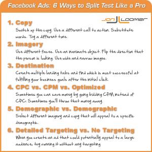 Facebook Ad Split Testing Infographic