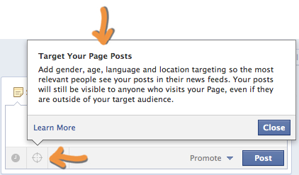 Facebook Page Post Targeting