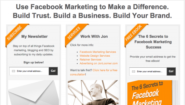 JonLoomer.com Home Page Value Proposition and Conversion Funnel