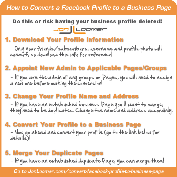 How to Convert Facebook Profile to Business Page