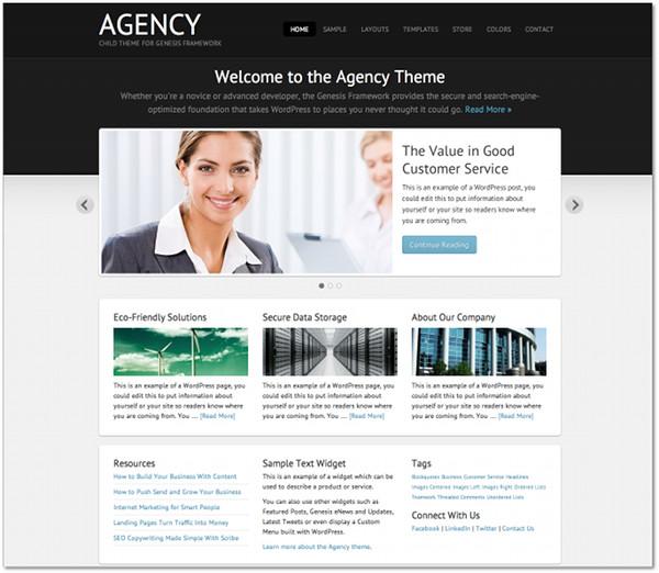 Agency Genesis Framework Child Theme