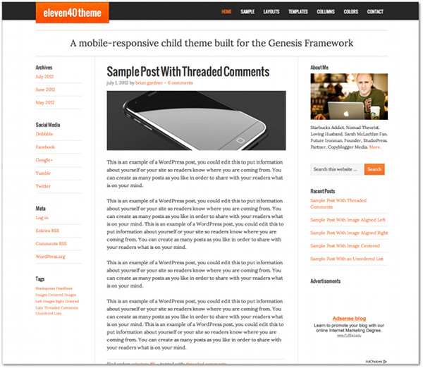 eleven40 Genesis Framework Child Theme