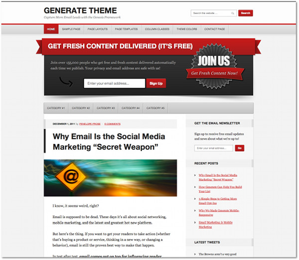 Generate Genesis Framework Child Theme
