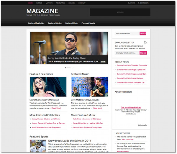Magazine Genesis Framework Child Theme