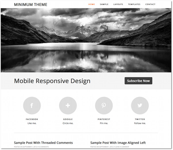 Minimum Genesis Framework Child Theme