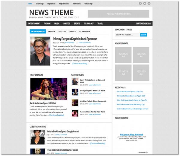 News Genesis Framework Child Theme