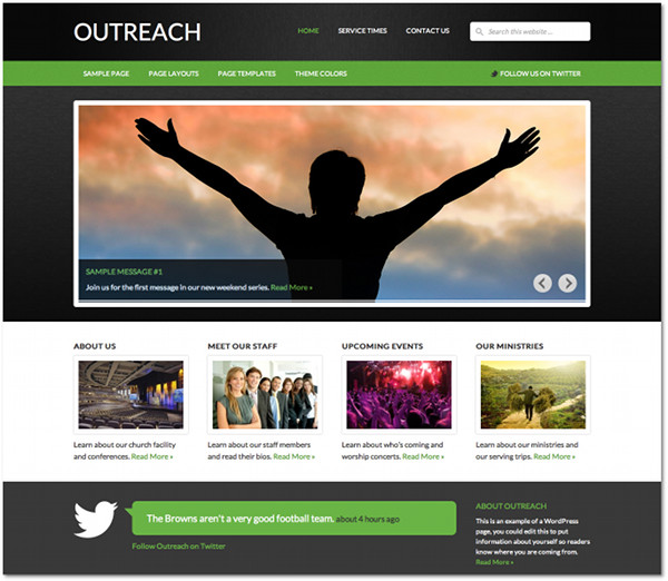 Outreach Genesis Framework Child Theme