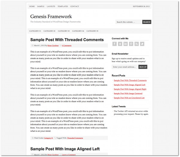 Prose Genesis Framework Child Theme