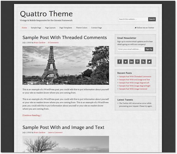 Quattro Genesis Framework Child Theme