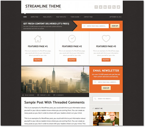 Streamline Genesis Framework Child Theme