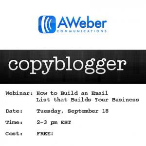Copyblogger AWeber Webinar
