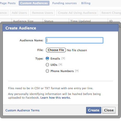 custom audiences fb 11 Powerful Ways to Increase Relevant Facebook Likes with Ads