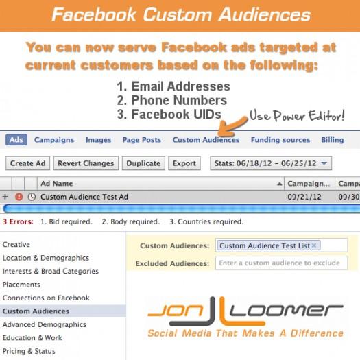 Facebook Custom Audiences: Target Facebook Ads by Email List