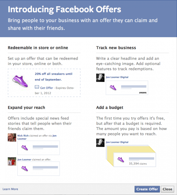 facebook offers 2 600x660 Itll Cost Ya: Facebook Offers Now Available to All
