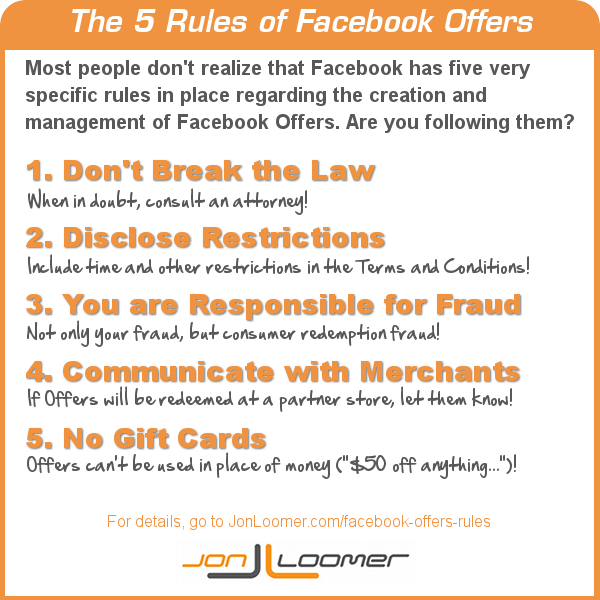 Facebook Offers Rules