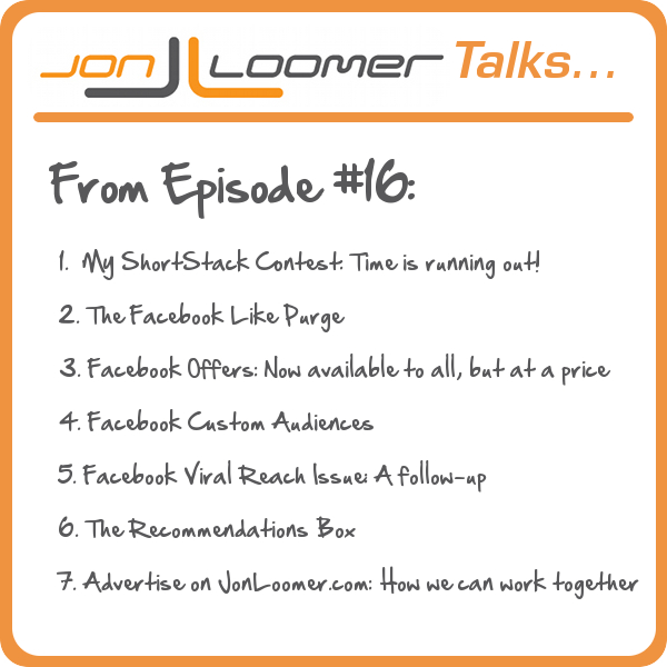 Jon Loomer Talks Podcast Episode 16