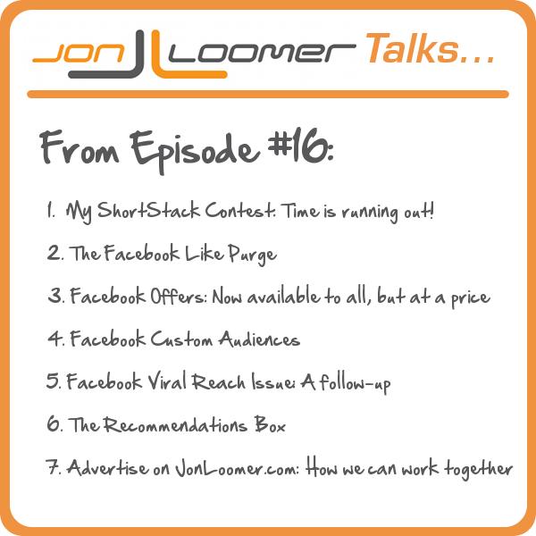 Jon Loomer Talks Podcast Episode 16
