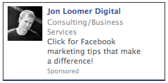 sponsored result ad 2 Facebook Sponsored Results: More Click than Action?