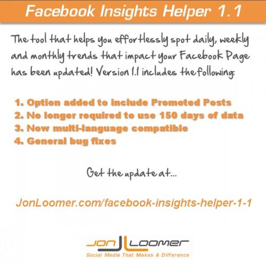 Update: Facebook Insights Helper 1.1