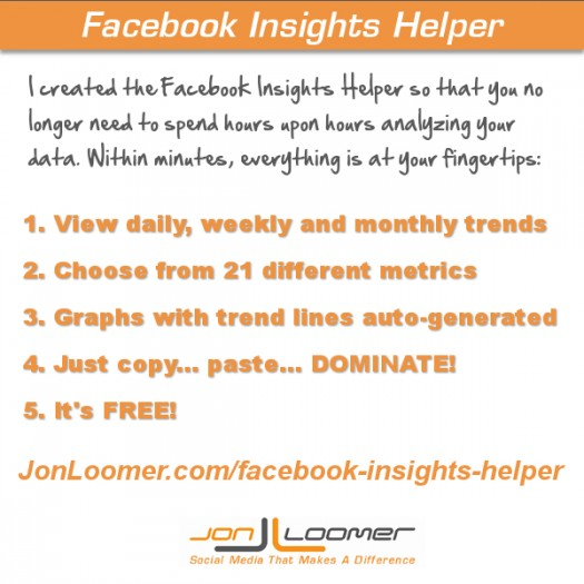 Dominate the Data: Facebook Insights Helper