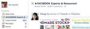 Facebook Page Interest Lists Favorites