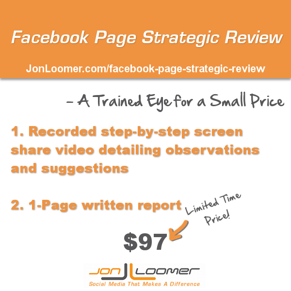 facebook page strategic review2 Facebook Page Strategic Review: A Trained Eye for a Small Price