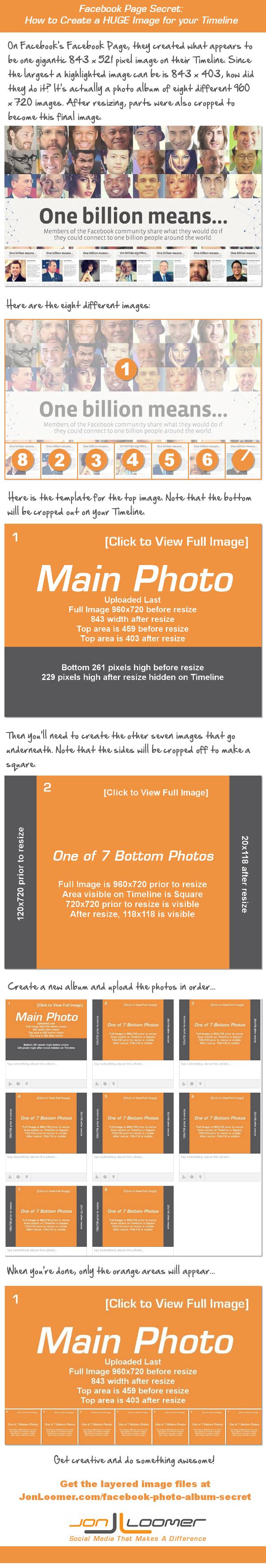 facebook photo album secret Facebook Page Secret: Create a HUGE Image for Your Timeline [Infographic]