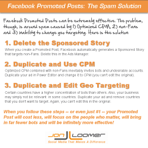 Facebook Promoted Posts Spam Solution