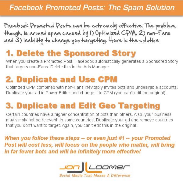 Facebook Promoted Posts Spam Solution