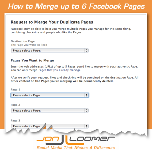 How to Merge Up to 6 Facebook Pages
