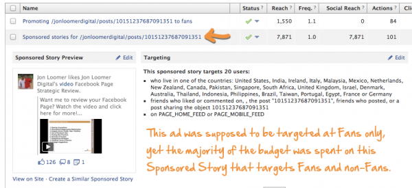 promoted post sponsored story 600x275 Facebook Promoted Posts: The Problem With Spam [Part 1]