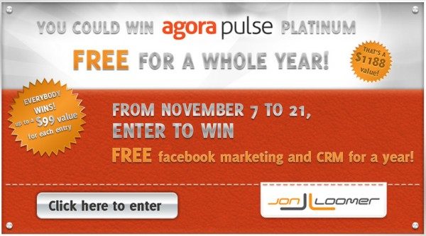 AgoraPulse Contest Jon Loomer Digital Facebook