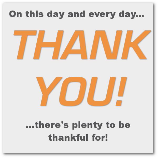 thank you My List of Thanks